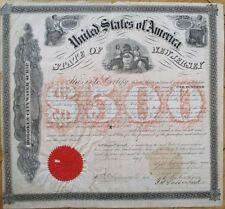 1872 Hoboken, NJ City Water Scrip $500 Bond Certificate - New Jersey