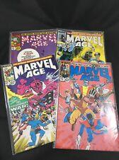 Marvel Age Lot of 4 Comics #61 - 64 Marvel Comics Vintage 1980s X-Men Aragones