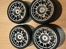 KYOSHO FW06, FW05, V-ONE, 1/10TH 4 SLICK TYRES ON MULTI SPOKE SILVER/GREY WHEELS