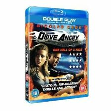 DRIVE ANGRY TRIPLE PLAY - 2D 3D DVD ACTION HORROR NICOLAS CAGE NEW SEALED BLURAY
