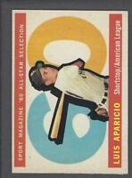 1960 Topps Chicago White Sox Baseball Card #559 Luis Aparicio AS