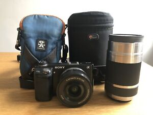Sony Alpha NEX-6 16.1MP Digital Camera Black + 55-210 Lens + Cases For Both