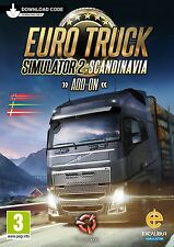 Euro TRUCK SIMULATOR 2-SCANDINAVIA Add-On (Digital Download Card) NUOVO