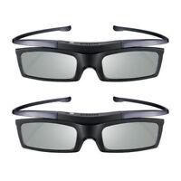Lot of 2 New 4K HD UHD SUHD 3D Active TV Glasses Samsung SSG-5100GB SSG-5150GB