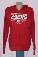 San Francisco 49ers Womens Hoodie Full Zip Hooded Sweatshirt Red LRG
