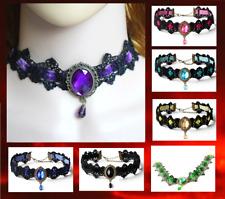 Gothic Lace 8 Colours Choker Victorian Burlesque Collar Retro Necklace UK Seller