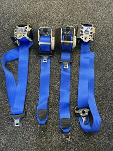 Ford Focus MK2 ST225 Blue Seat Belt Set