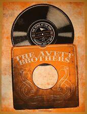 2013 Avett Brothers - Fargo Silkscreen Concert Poster by Status Serigraph S/N
