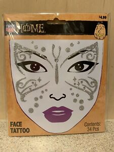 Rite Aid Halloween Home Face Tattoo 34 Pcs - New in Package