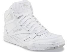 Reebok Men's High Top Leather Basketball Shoe Sneaker Royal White BB4500 Size 11
