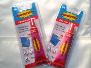 2 Colle à Tissus Rapide et Résistante Jean Tissu Coton 40 ML