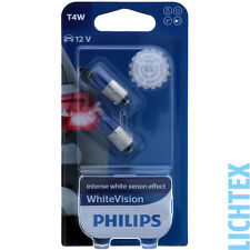 T4W / BA9s PHILIPS WhiteVision - Scheinwerfer Lampe - DUO-Pack