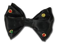 Negro intermitente Pajarita Circo Payaso Mago Dicky Bow Novedad Fancy Dress