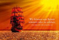Oskar Wilde Spruch Segelschiff Blechschild Schild gewölbt Tin Sign 20 x 30 cm