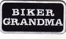 """BIKER GRANDMA"""" - IRON ON EMBROIDERED PATCH/Bikers, Vest, Sayings"