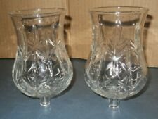 Pair Homco Clear Glass Large Candle Holder Votive 11090