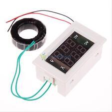 AC 500V 50A Digital Voltmeter Ammeter LCD Amp Volt Meter Panel Gauge Transformer