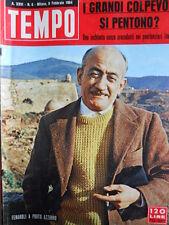 TEMPO n°6 1964 Fenaroli - Brigitte Bardot - Eugenio Montale [C87]