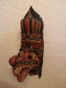 Vintage Indonesian Ceremonial Handmade Wooden Mask
