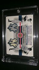 2001 UPPER DECK YANKEES DYNASTY DUAL JERSEY MANTLE AND DIMAGGIO -  RARE!!!