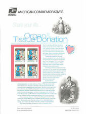 #548 32c Organ and Tissue Donation #3227 USPS Commemorative Stamp Panel