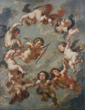 Putti, a ceiling decoration Peter Paul Rubens Deckenmalerei Engel B A3 03075