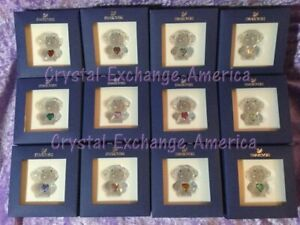 Swarovski Birthstone Angels. Set of 12. Limited Edition 500. Retired 2014. MIB