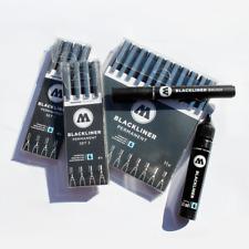 Molotow BLACKLINER Outline Markers, Brush, OR 30mL Refill Graffiti Art Supplies
