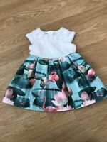 Girls Ted Baker Beautiful Flamingo Detail Dress 6-9 Months