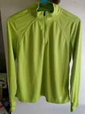 Xersion Women's Lime Green Athletic Activewear Run Zip Up Jacket Top Size Medium