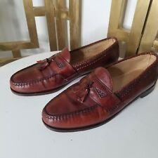 Allen Edmonds Maxfield Brown Woven Tassel Dress Loafer Slip On Shoe Mens 15 B
