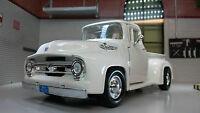 G LGB 1:24 Scale Ford F100 Pickup Ute Van 1956 Truck Diecast Model 73235 White