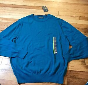John Barlett Consensus, mens size Large, blue sweater, NWTS, warm sweater,winter