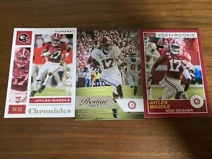Jaylen Waddle Panini Draft Chronicles Rookie Card Lot Miami Dolphins