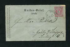 Österreich Kartenbrief aus Sobieslau 1886    (EB-7)