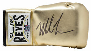 Mike Tyson Signed Right Hand Gold Cleto Reyes Boxing Glove JSA ITP