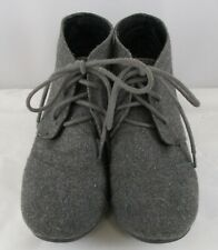 UNBRANDED Girls Gray Lace Up wedge Shoes Size 1