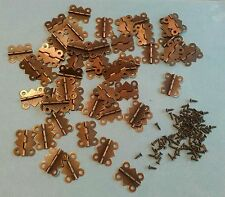"""50 pack- Small hinge/ butterfly hinge/ butt hinge- 1""""x3/4"""" with screws"""