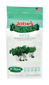 NEW! JOBE'S Organics Granules Herb Plant Food 4 Lb. 09127