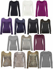 Long Sleeve V Neck Stretch Tops & Shirts for Women