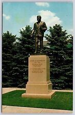 John F. Kennedy Memorial Statue McKeesport, Pennsylvania Chrome Postcard Unused