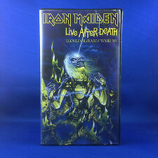 IRON MAIDEN: Live After Death VHS Tape (ULTRA RARE OUT OF PRINT 1985 PAL VHS)