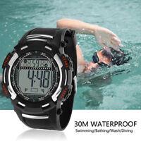 Luxury Men Analog Digital  Watch Military Sport LED Waterproof Wrist Watch
