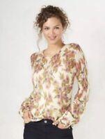 NWT Womens Lauren Conrad Disney Snow White Ivory Floral Sweater Sz XS