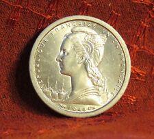 1948 French Equatorial Africa 1 Franc Unc World Coin Congo Gabon Gazelle Deer