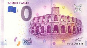 13 ARLES Arènes 2, 2019, Billet Euro Souvenir