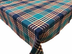 Table cloth Cotton Blue color design 180x180 Square