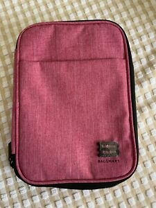 BAGSMART Double-layer Travel Cable Organizer Electronics Accessories Pink Used