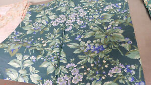 Vintage Laura Ashley-Bramble Berry Green Straight Window Valances--2 Available