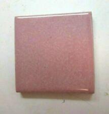 """Designer Classic 1-7/8"""" OSF Dot110 Pastel Pink Heather 1 Porcelain Wall Tile Vtg"""